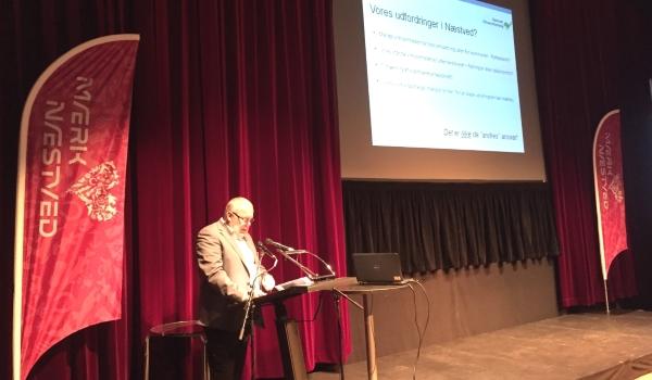 Formand Torben Johansen fra Næstved Erhvervsforening efterlyser de store visioner i sit oplæg.